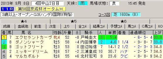 京成杯オータムハンデキャップ2013